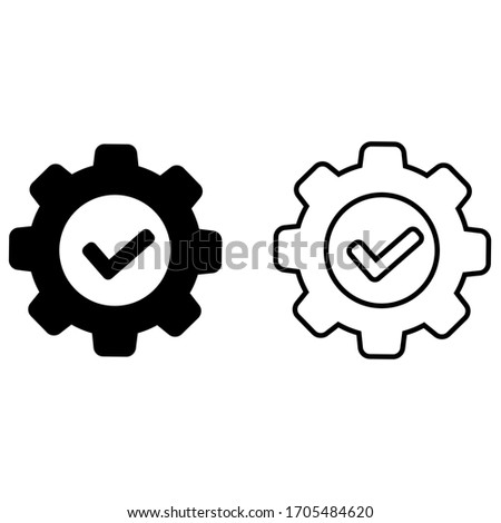 execution vector icon. Simple element illustration. execution concept symbol design. Can be used for web and mobile. ストックフォト ©