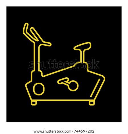 Exercise bike line icon vector Foto stock ©