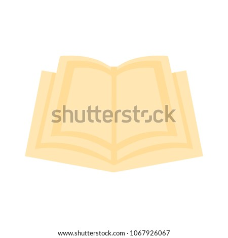 exercise book icon, vector book illustration - education icon, book isolated - open book