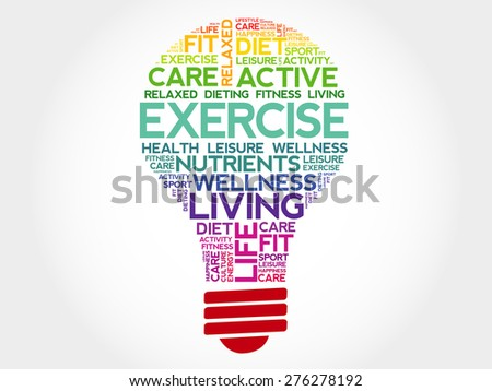 exercise bulb word cloud