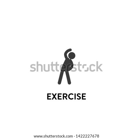 exercise icon vector. exercise vector graphic illustration