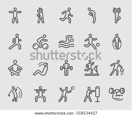 Exercise line icon