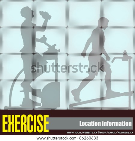 Exercise Window, Vector Flyer of a Health Club or Gymnasium