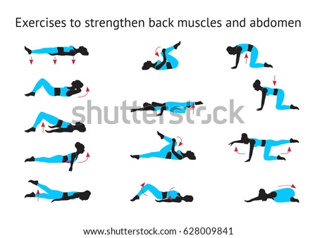 Exercises to strengthen back muscles and abdomen