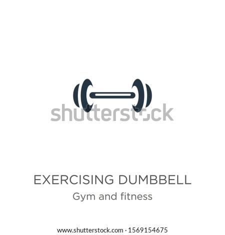 Exercising dumbbell icon vector. Trendy flat exercising dumbbell icon from gym and fitness collection isolated on white background. Vector illustration can be used for web and mobile graphic design,