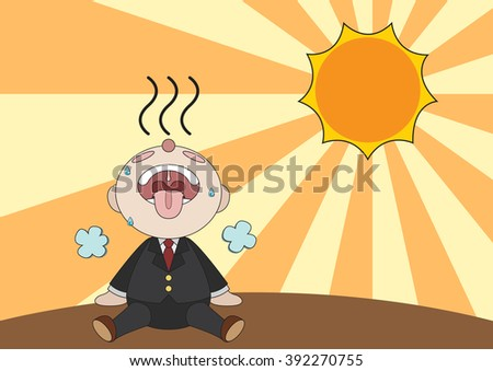 exhausted businessman is