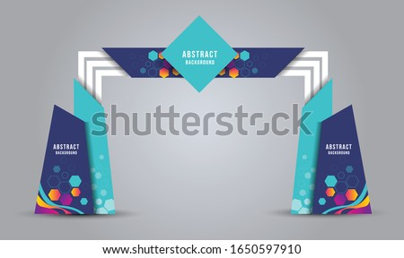 exhibition stand Gate entrance vector with for mock up event displ, arch design