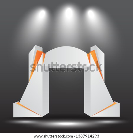 Exhibition Stand Free Vector : Expo stand newest royalty free vectors imageric.com