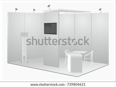 exhibition stand vector exposition show fair