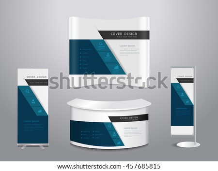 Exhibition stands, Vector illustration modern layout template