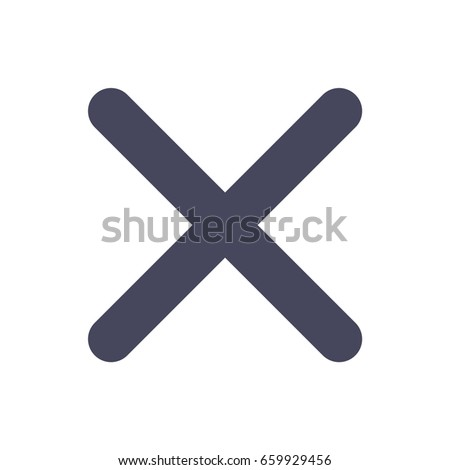 Exit close x icon in trendy flat style isolated on white background symbol for your design logo  UI Vector illustration EPS10
