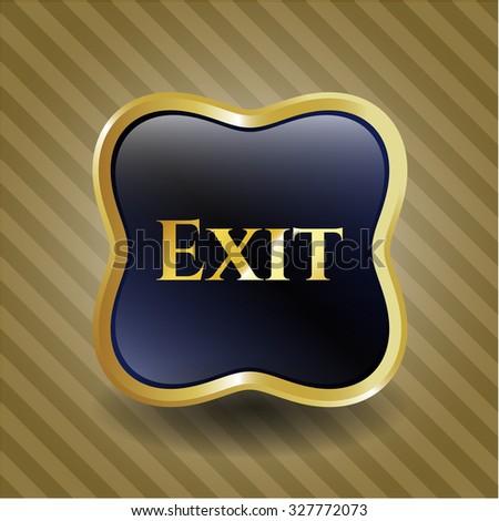 Exit golden badge