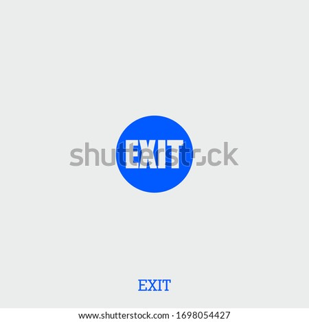 exit icon exit vector on gray