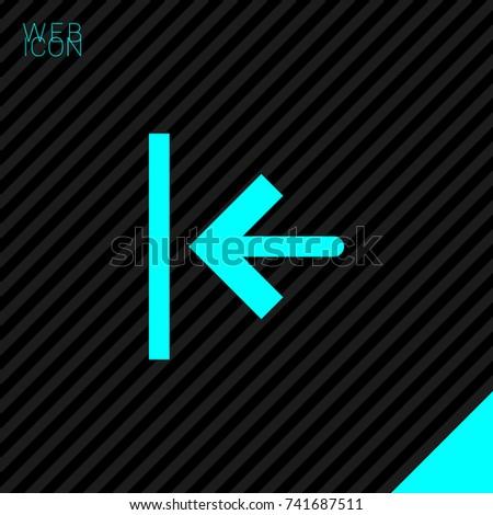 exit minimal icon arrow line