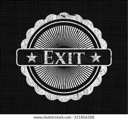 Exit on blackboard