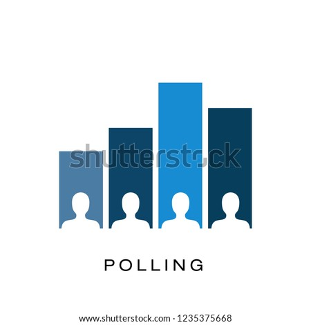 Exit polling icon vector logo template Stock photo ©