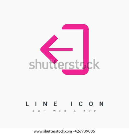 exit sign isolated minimal icon