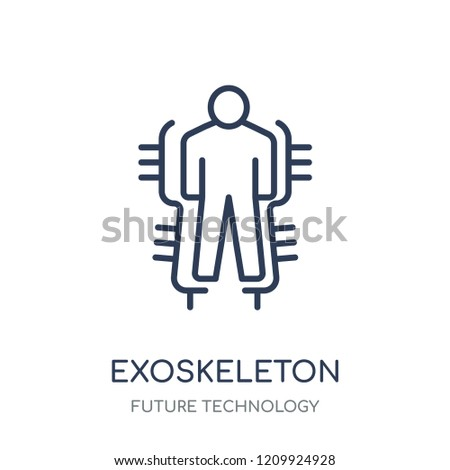 Exoskeleton icon. Exoskeleton linear symbol design from Future technology collection.