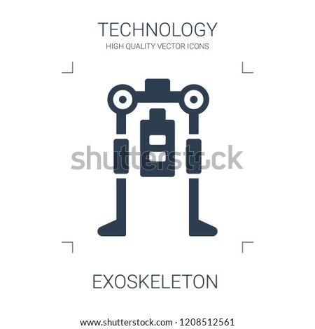 exoskeleton icon. high quality filled exoskeleton icon on white background. from technology collection flat trendy vector exoskeleton symbol. use for web and mobile