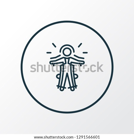 Exoskeleton icon line symbol. Premium quality isolated cyborg element in trendy style.