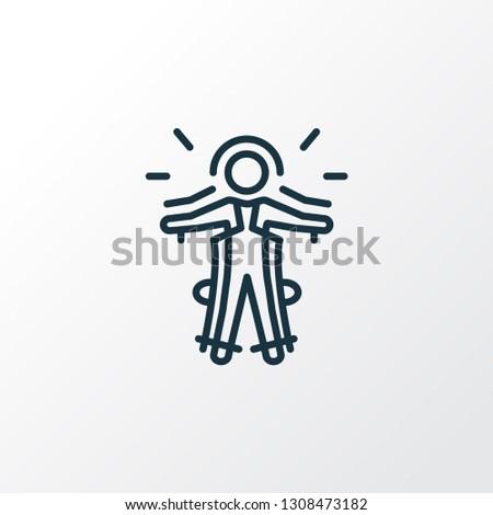 Exoskeleton icon line symbol. Premium quality isolated cyborg element in trendy style.