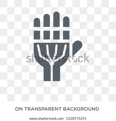 Exoskeleton icon. Trendy flat vector Exoskeleton icon on transparent background from Artificial Intelligence, Future Technology collection.