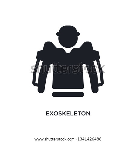 exoskeleton isolated icon. simple element illustration from artificial intellegence concept icons. exoskeleton editable logo sign symbol design on white background. can be use for web and mobile
