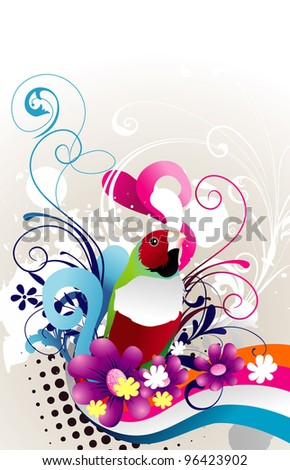 exotic bird abstract vector