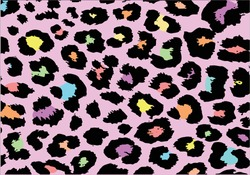 exotic colorful leopard design hand drawn,stationary,fashion pattern,seamless,paper,fabric,t shirt,dress,wallpaper,decorative,mug,phone case funny cute pattern for everything