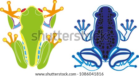 exotic frogs   vector logos