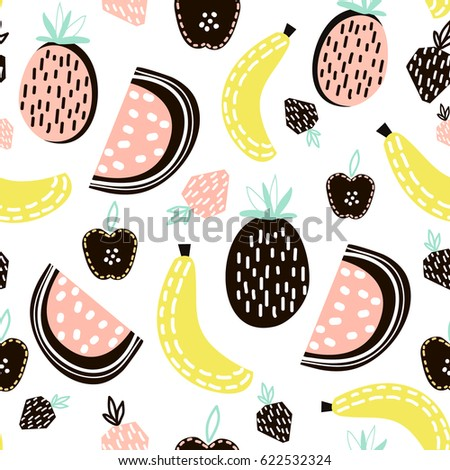 exotic fruit seamless pattern