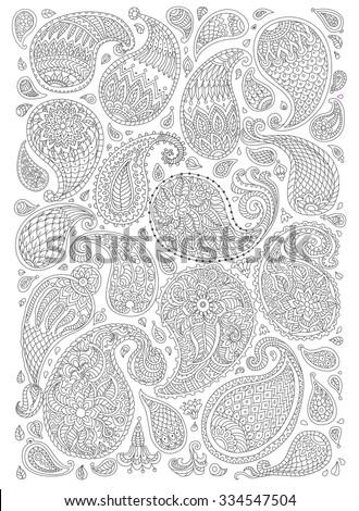 exotic paisley decorative