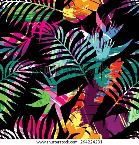exotic paradise plant seamless
