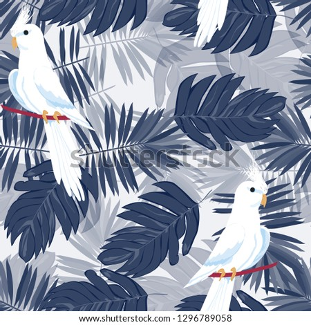 exotic seamless pattern with a