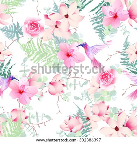 exotic spring flowers with