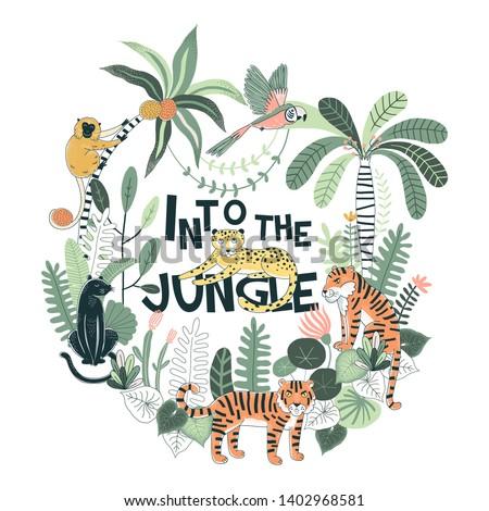 exotic tropical wildlife
