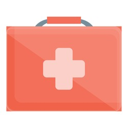 Expedition first aid kit icon. Cartoon of Expedition first aid kit vector icon for web design isolated on white background