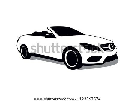 expensive car convertible. Mercedes-Benz SLC-Class.