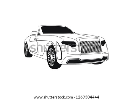 expensive car convertible. Rolls-Royce Dawn luxury convertible.