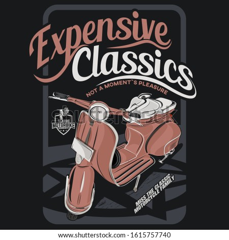 expensive classics, illustration of a classic motorcycle