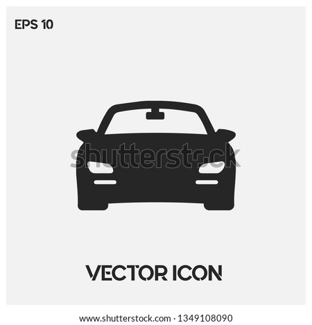Expensive sport car vector icon illustration. White background. Premium quality.