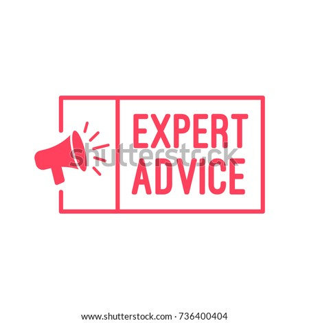 Expert Advice Megaphone Label