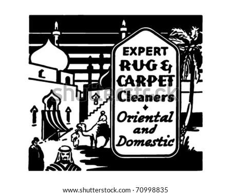 Expert Rug & Carpet Cleaners - Retro Ad Art Banner