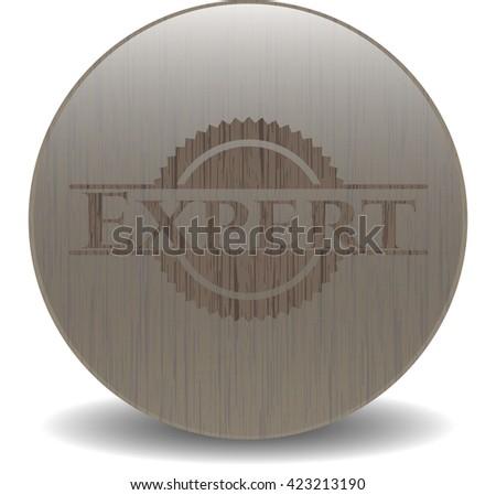 Expert wood icon or emblem