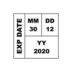 Expiration date product label, packaging symbol illustration template.