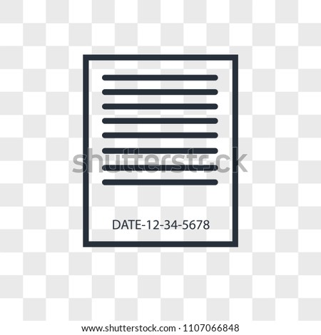 expiration date vector icon isolated on transparent background, expiration date logo concept