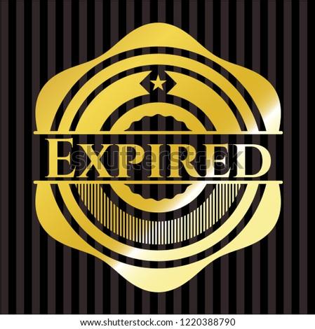 Expired golden badge