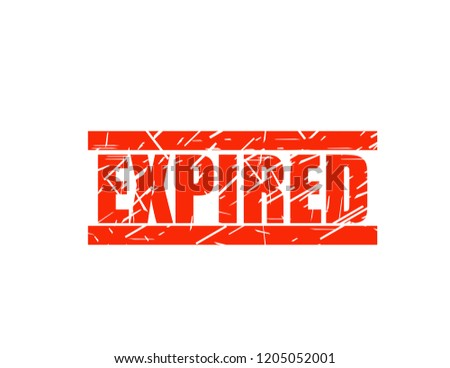 Expired red stamp