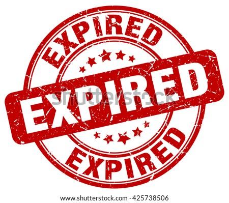 expired. stamp