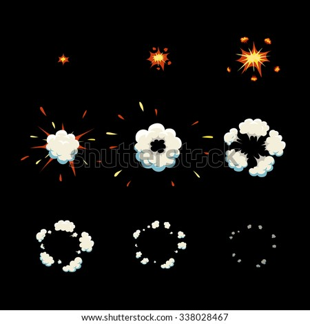 explode effect animation and